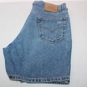 Vintage Levis 550 Stonewash Denim Shorts size 36